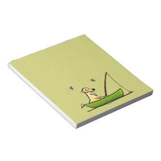 Yellow Lab Fishing Note Pad