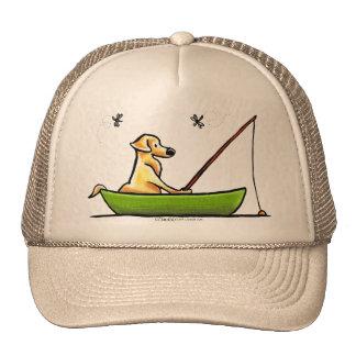 Yellow Lab Fishing Trucker Hat