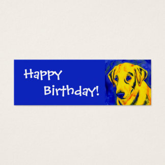 """Yellow Lab - Gift Tag - """"Archie"""""""