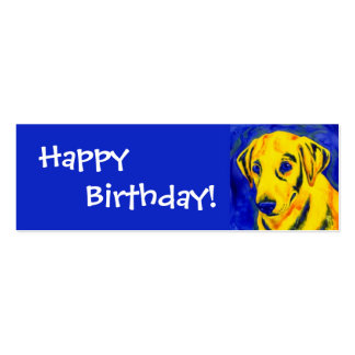 """Yellow Lab - Gift Tag - """"Archie"""" Business Card Templates"""