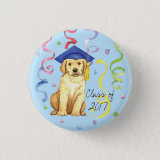 Yellow Lab Graduate Button