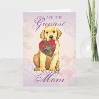 Yellow Lab Heart Mom Card