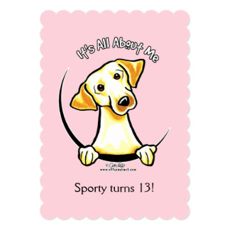 Yellow Lab IAAM Girl Birthday Party Cake Card
