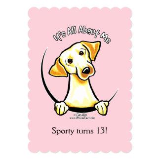 Yellow Lab IAAM Girl Birthday Party Cake Card
