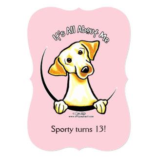 Yellow Lab IAAM Girl Birthday Party Card