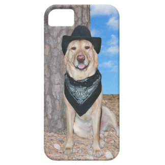 Yellow Lab in Black iPhone 5 Covers