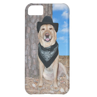 Yellow Lab in Black iPhone 5C Cover