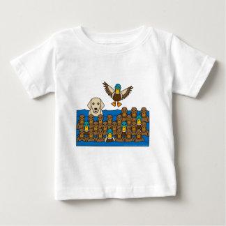 Yellow Lab in the Ducks Baby T-Shirt