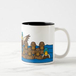 Yellow Lab in the Ducks Two-Tone Coffee Mug