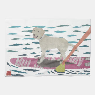 Yellow Lab, Labrador Retriever, Beach Dog Towel