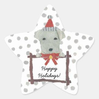Yellow Lab, Labrador Retriever, Holidays Star Sticker