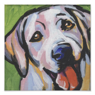 Yellow Lab Labrador Retriever Pop Art Print