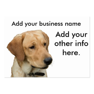 Yellow Lab Large Business Card