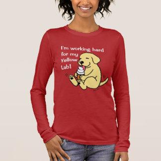Yellow Lab Licking Ice Cream Long Sleeve T-Shirt