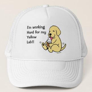 Yellow Lab Licking Ice Cream Trucker Hat