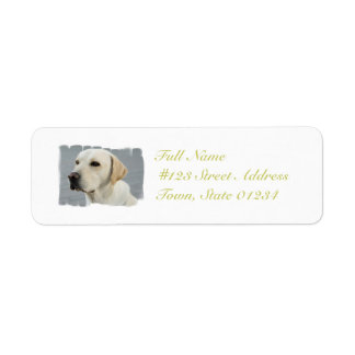 Yellow Lab  Mailing Labels