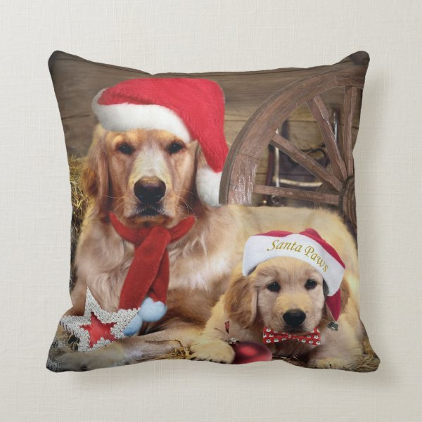 Yellow Lab Merry Christmas Holiday Pillows