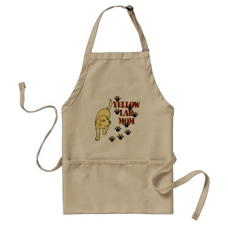 Yellow Lab Mom Adult Apron