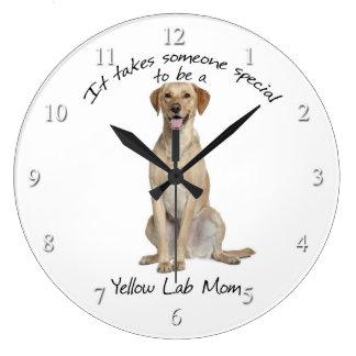 Yellow Lab Mom Clock
