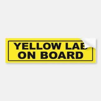 Yellow Lab on Board Bumper Sticker