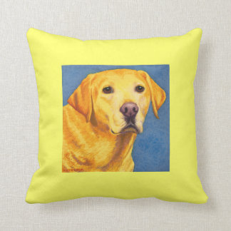 "Yellow Lab Pillow - ""Mixsy"""