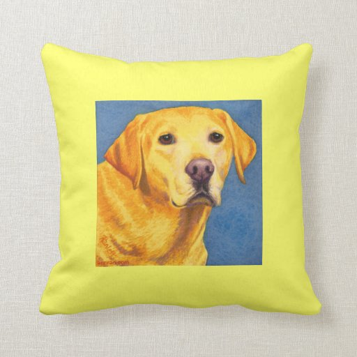"""Yellow Lab Pillow - """"Mixsy"""""""