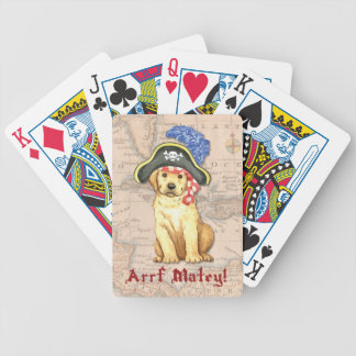 Yellow Lab Pirate Bicycle Playing Cards