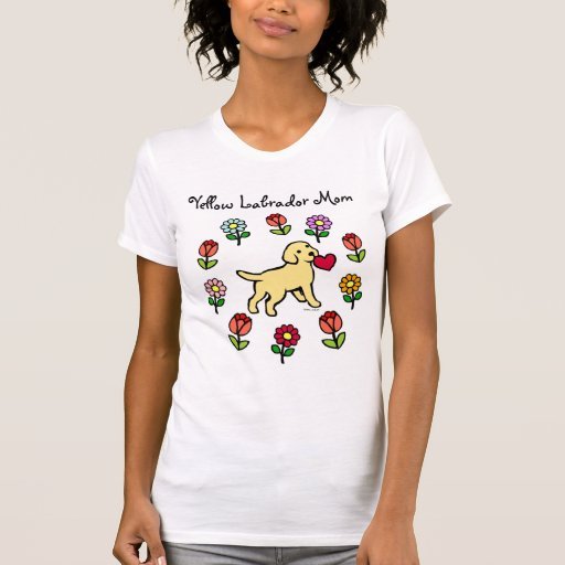 Yellow Lab Puppy and Red Heart T-Shirt
