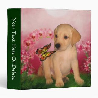 Yellow Lab Puppy Butterfly Fantasy Dog Binder