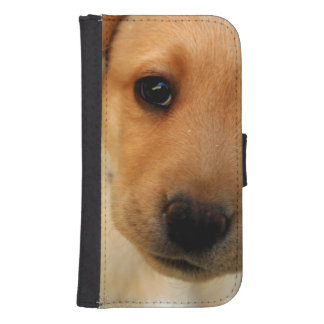 Yellow Lab Puppy Galaxy S4 Wallet Cases