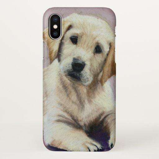 yellow lab puppy iphone case