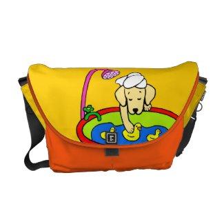 Yellow Lab & Rubber Ducks Cartoon Commuter Bag