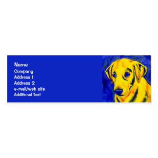 """Yellow Lab - Skinny Business Card - """"Archie"""""""