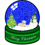 yellow lab snow globe cut outs
