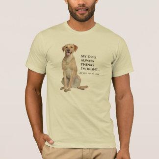 Yellow Lab v. Wife T-Shirt