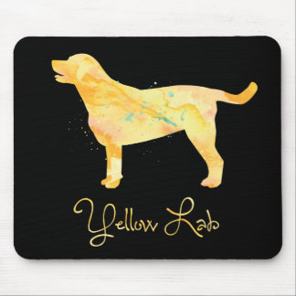 Yellow Lab Watercolor Design Mouse Pad