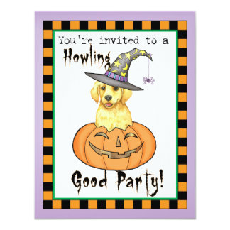 Yellow Lab Witch Card