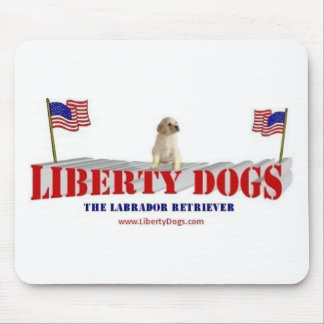 Yellow Lab with Flags Mouse Pad
