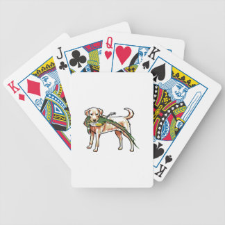YELLOW LAB WITH PHEASANT BICYCLE PLAYING CARDS
