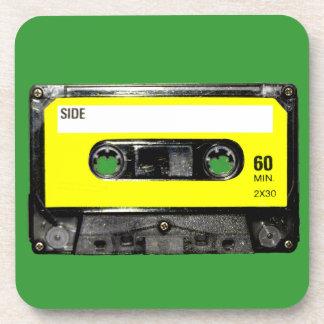 Yellow Label Vintage Cassette Beverage Coaster