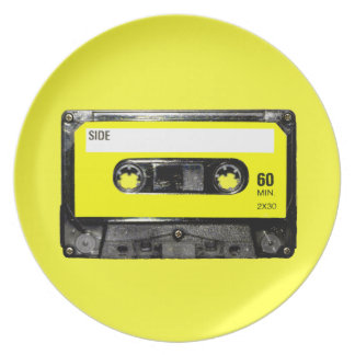 Yellow Label Vintage Cassette Plate