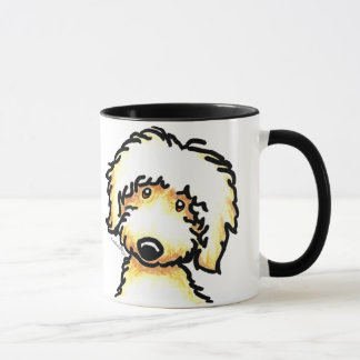 Yellow Labradoodle Art Mug