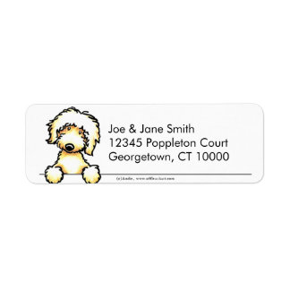 Yellow Labradoodle Clean & Simple Label