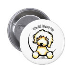 Yellow Labradoodle IAAM Pinback Buttons