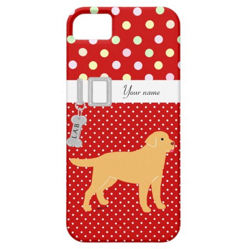 Yellow Labrador 2 with a Little Tongue iPhone 5 Cases