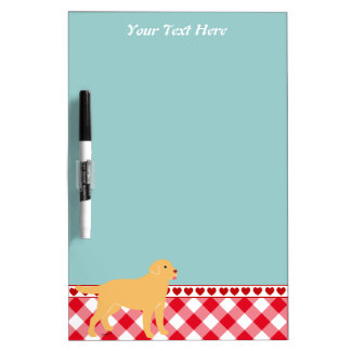 Yellow Labrador 2 with a Little Tongue Dry Erase Whiteboards