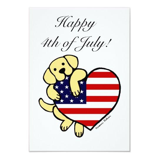 Yellow Labrador American Heart 2 Card