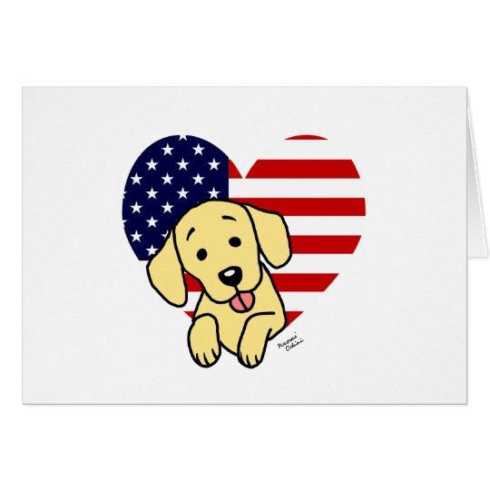 Yellow Labrador American Heart Card