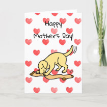 Yellow Labrador and Stocking Mother's Day Card