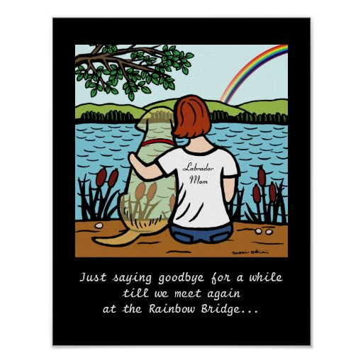Yellow Labrador Angel and Mom 2 Poster